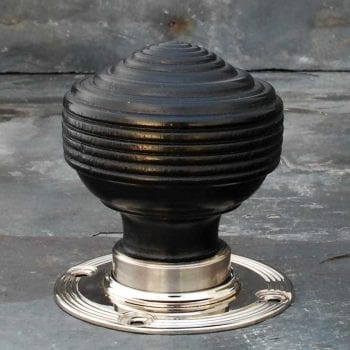 Ebonised Door Knobs - Nickel