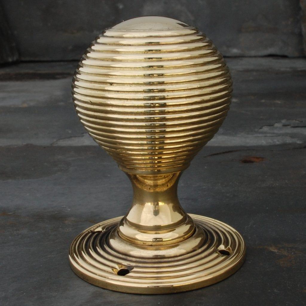 Victorian Brass Beehive Door Knob