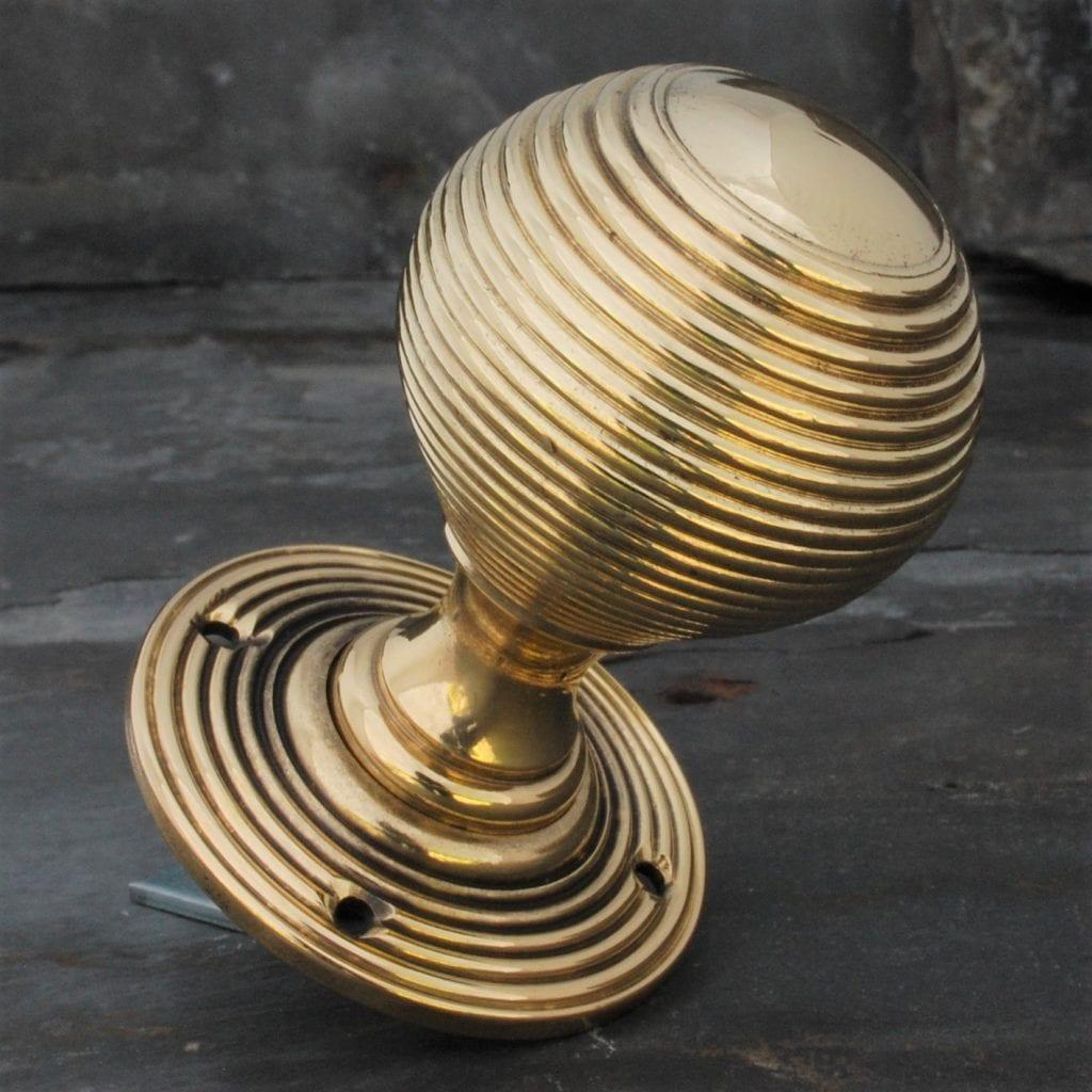 Victorian Brass Beehive Door Knob | Buy Brass Door Knob | Kings Handles