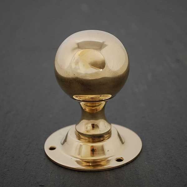 Brass Round Door Knob