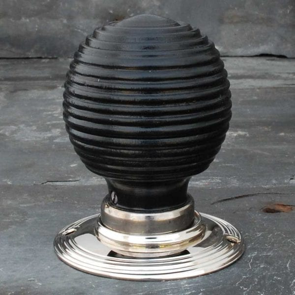 Classic Ebonised Beehive Door Knobs